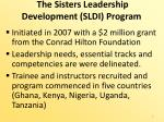 the sisters leadership development sldi program