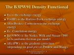 the b3pw91 density functional1
