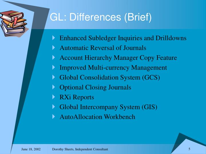 GL: Differences (Brief)