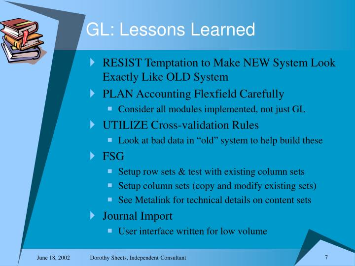 GL: Lessons Learned