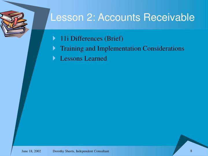 Lesson 2: Accounts Receivable