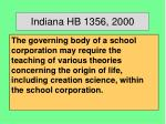 indiana hb 1356 2000