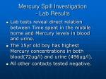 mercury spill investigation lab results1