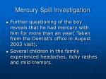mercury spill investigation