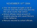 november 10 th 2004