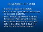 november 10 th 20041