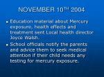 november 10 th 20042