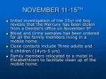 november 11 15 th