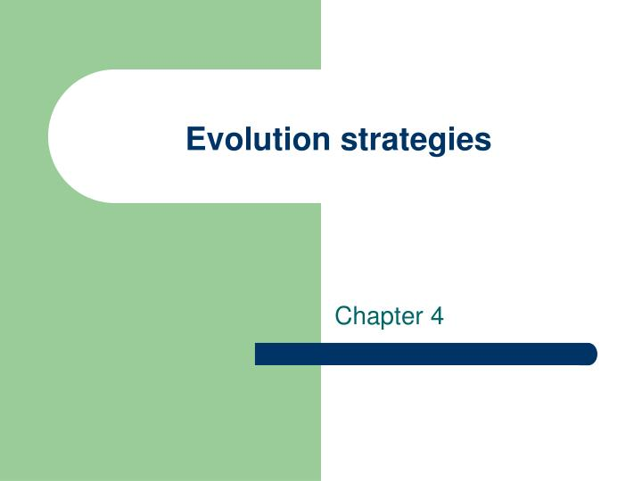 evolution strategies n.