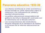 panorama educativo 1932 38