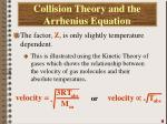 collision theory and the arrhenius equation1