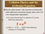 collision theory and the arrhenius equation3
