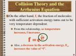 collision theory and the arrhenius equation4