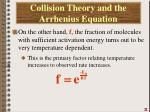 collision theory and the arrhenius equation5