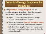 potential energy diagrams for reactions1