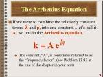 the arrhenius equation1