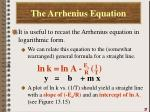 the arrhenius equation3