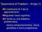tassonomia di frabboni arrigo 1