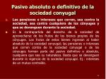 pasivo absoluto o definitivo de la sociedad conyugal1