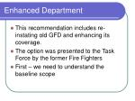 enhanced department