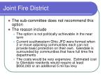 joint fire district