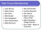 task force membership