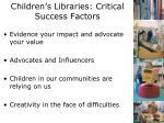 children s libraries critical success factors1