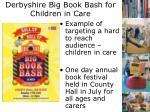 derbyshire big book bash for children in care