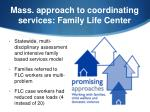 mass approach to coordinating services family life center