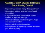 aspects of gwa studies that make data sharing crucial