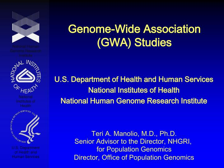genome wide association gwa studies n.