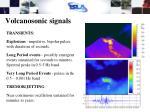 volcanosonic signals