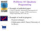 problems 0 1 quadratic programming1