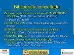 bibliograf a consultada