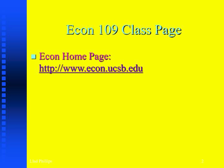 Econ 109 class page