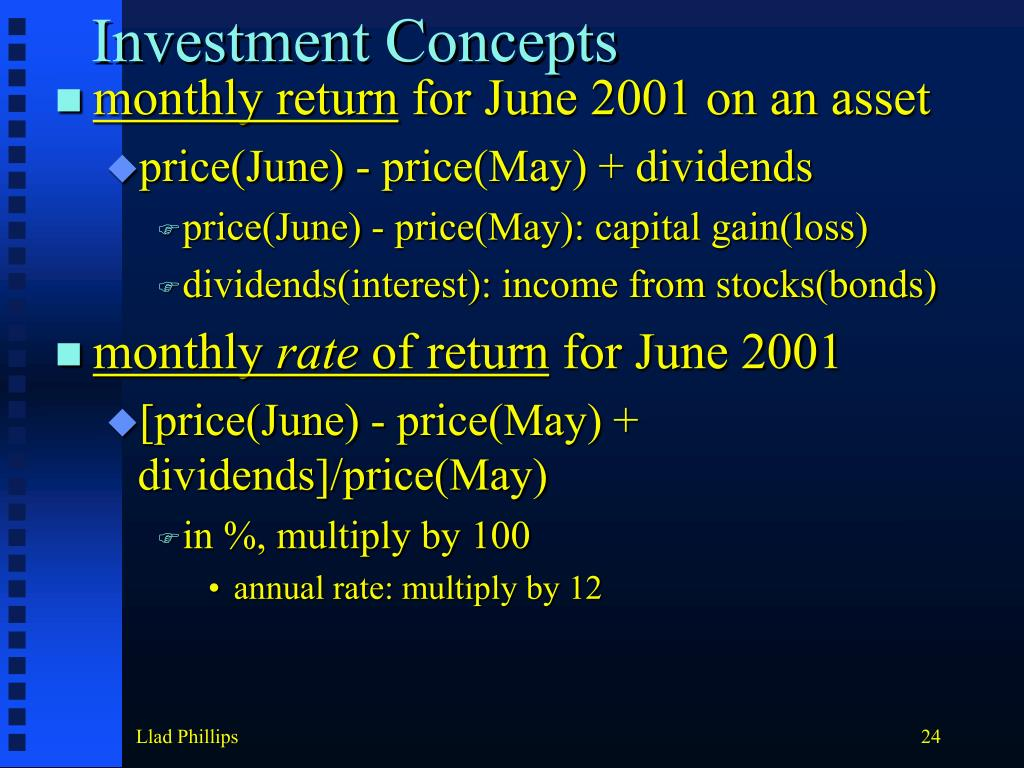 Investment Concepts