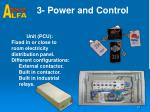 3 power and control