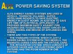 power saving system
