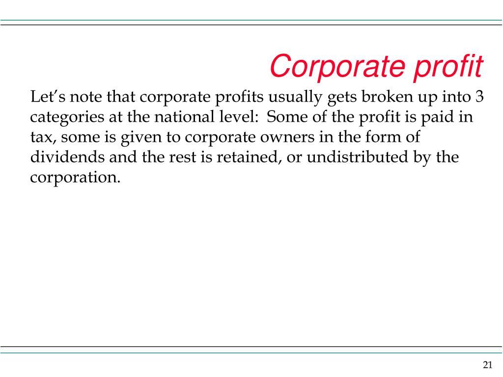 Corporate profit