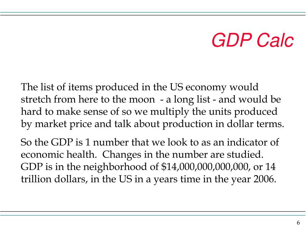 GDP Calc