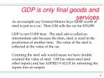 gdp is only final goods and services