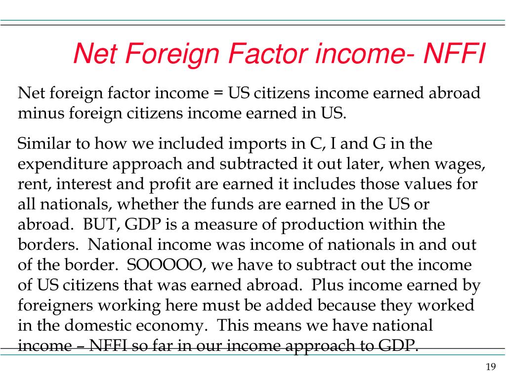 Net Foreign Factor income- NFFI