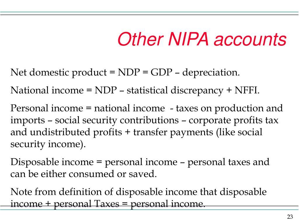 Other NIPA accounts