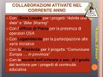 collaborazioni attivate nel corrente anno