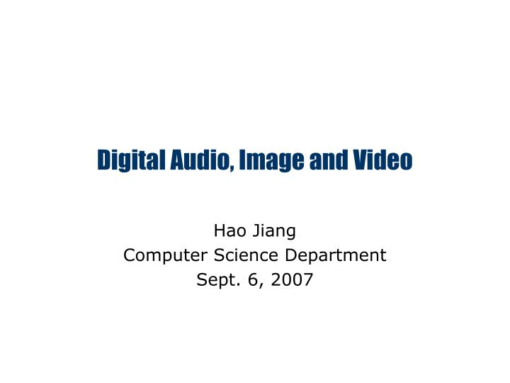 digital audio image and video n.