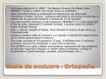 scale de evaluare ortopedie