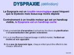 dyspraxie d finition