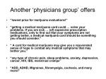 another physicians group offers