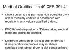 medical qualification 49 cfr 391 41