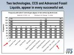 two technologies ccs and advanced fossil liquids appear in every successful set